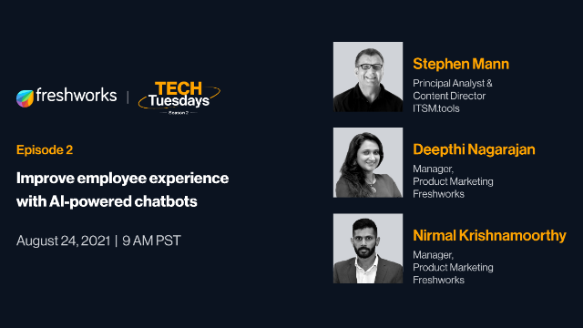 TechTuesdays Episode 2 | Improve employee experience with AI-powered chatbots
