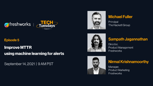TechTuesdays Episode 5 | Improve MTTR using machine learning for alerts