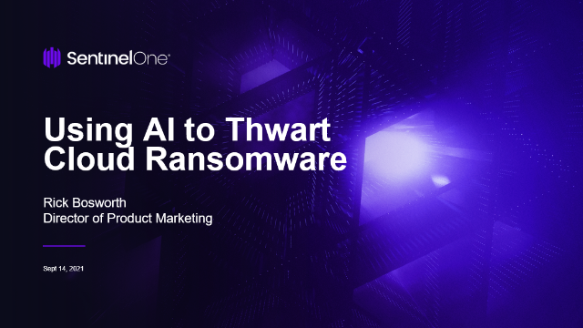 Using AI to Thwart Cloud Ransomware