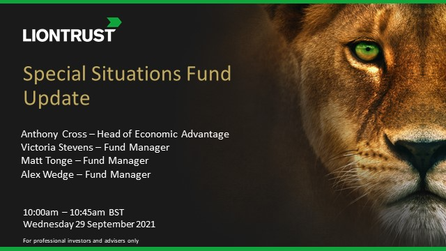 Liontrust Special Situations Fund Update (UK ONLY)