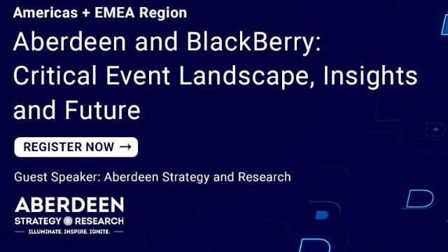 Aberdeen and BlackBerry: Critical Event Landscape, Insights and Future