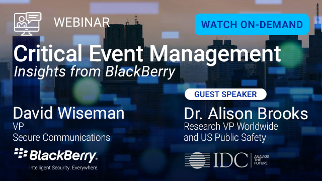 Critical Event Management Insights from BlackBerry