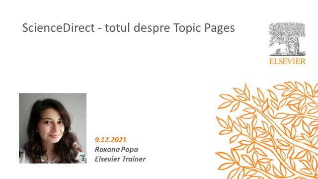 ScienceDirect - totul despre Topic Pages