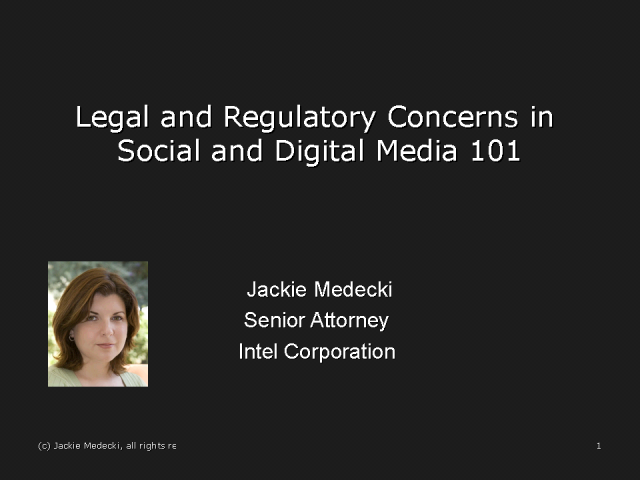 Legal and Regulatory Concerns in Social and Digital Media 101