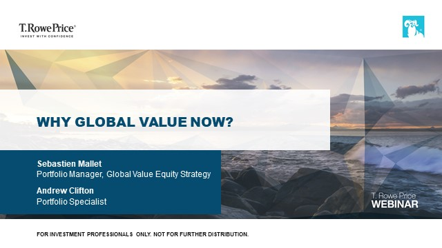 Why Global Value Now?
