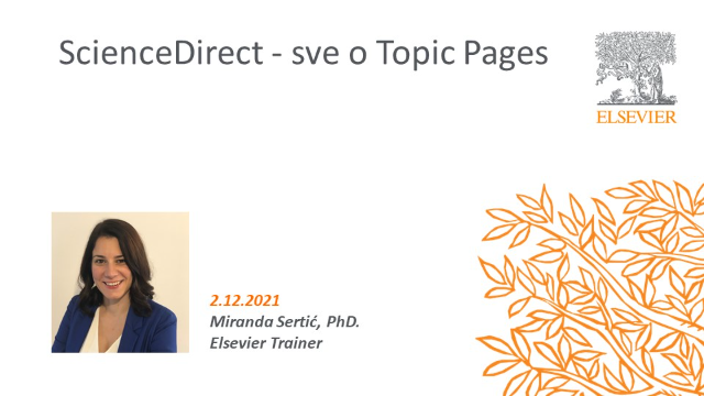 ScienceDirect - sve o Topic Pages