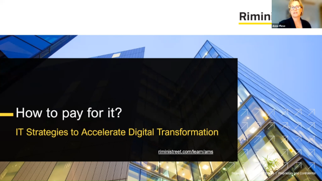How to Pay for It? IT Strategies to Accelerate Digital Transformation