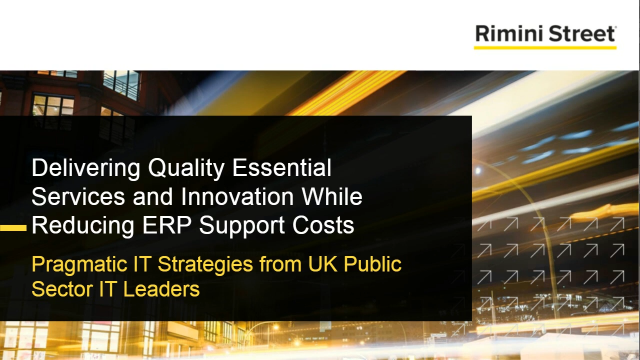 Delivering Quality Essential Services and Innovation While Reducing Costs