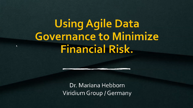 Using Agile Data Governance to minimize financial risk