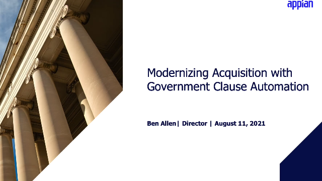 Modernizing Federal Acquisitions with Appian Clause Automation