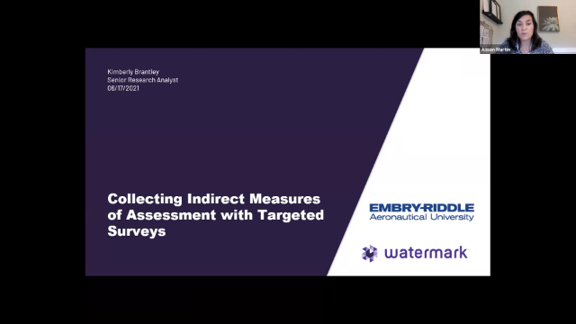 Collecting Indirect Measures of Assessment with Targeted Surveys