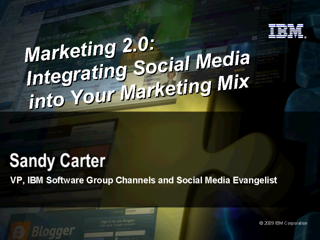 Integrating Social Media into the Marketing Mix