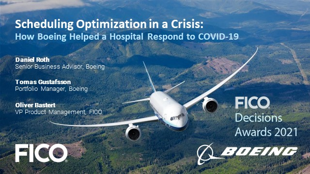 Scheduling Opti. in a Crisis: How Boeing Helped a Hospital Respond to COVID-19