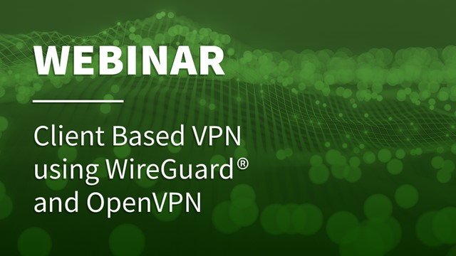 Client Based VPN using WireGuard® and OpenVPN