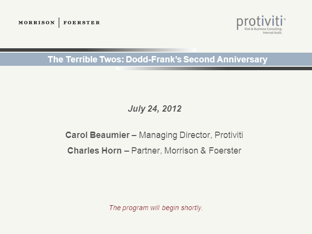 The Terrible Twos: Dodd-Frank's Second Anniversary