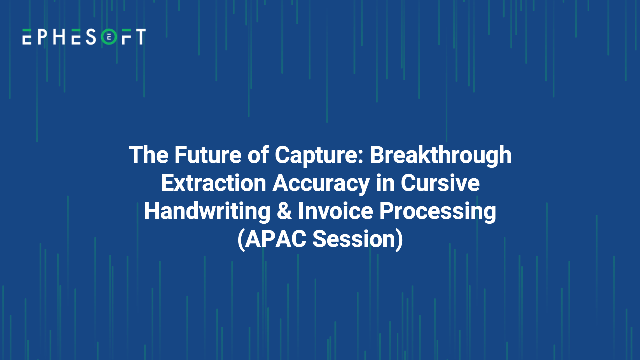 Breakthrough Extraction Accuracy in Cursive Handwriting & Invoice Processing