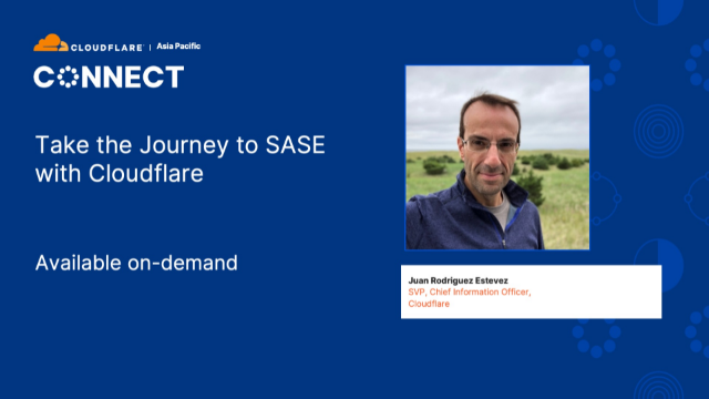 Take the Journey to SASE with Cloudflare