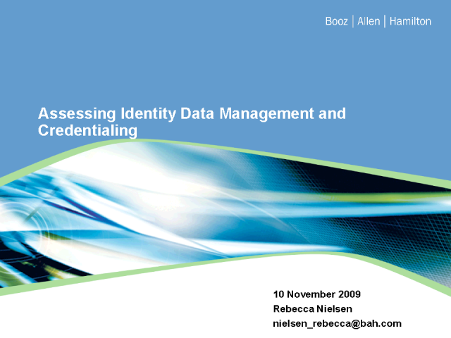 Assessing Identity Data Management and Credentialing