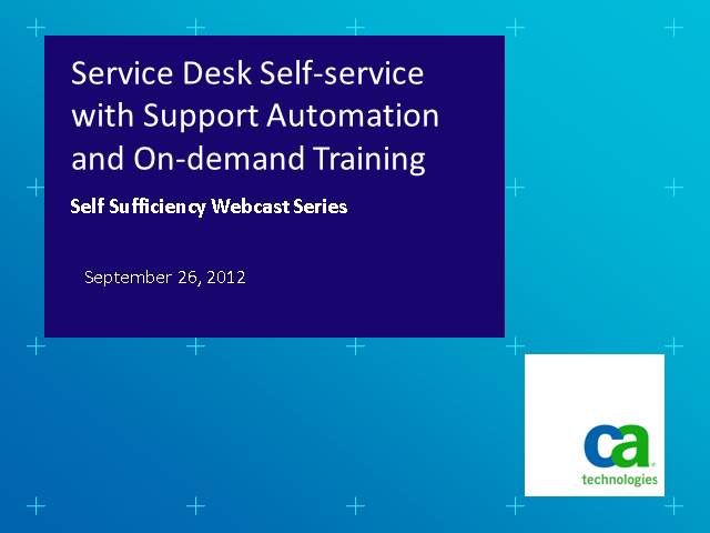 Service Desk Self-service with Support Automation and On-demand Training
