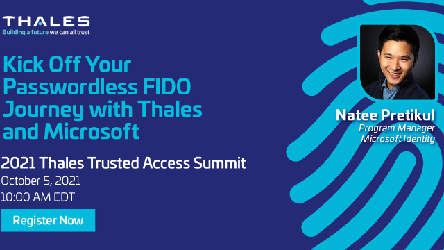 Kick Off Your Passwordless FIDO Journey with Thales and Microsoft