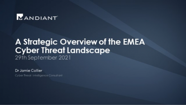A Strategic Overview of the EMEA Cyber Threat Landscape