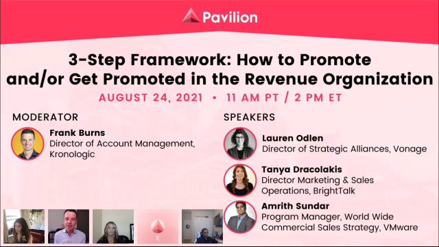 3-Step Framework: How to Promote and/or Get Promoted in the Revenue Organization