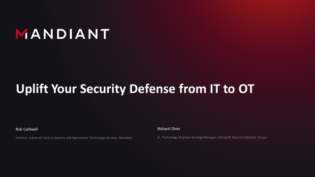 Uplift Your Security Defense from IT to OT