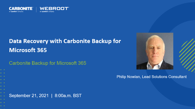 Quick and Easy Data Recovery with Carbonite Backup for Microsoft 365