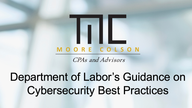 Department of Labor's Guidance on Cybersecurity Best Practices 
