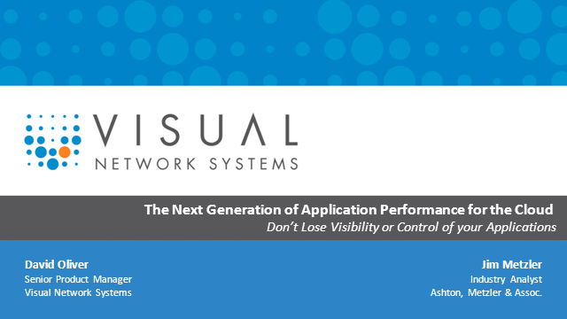 The Next Generation of Application Performance for the Cloud
