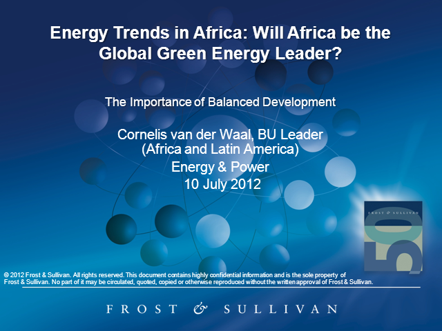 Energy Trends in Africa: Will Africa be the Global Green Energy Leader?