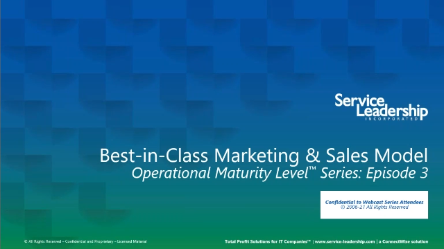 Best-in-Class Sales and Marketing Models