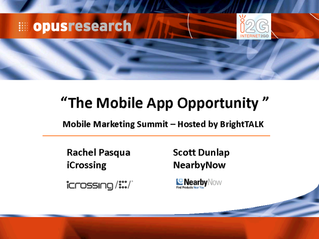 The Mobile App Opportunity