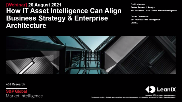 How IT Asset Intelligence Can Align Business Strategy & Enterprise Architecture