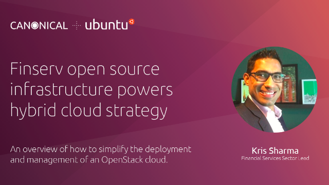 Finserv open source infrastructure powers hybrid cloud strategy