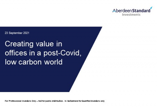 Creating value in offices in a post-Covid, low carbon world