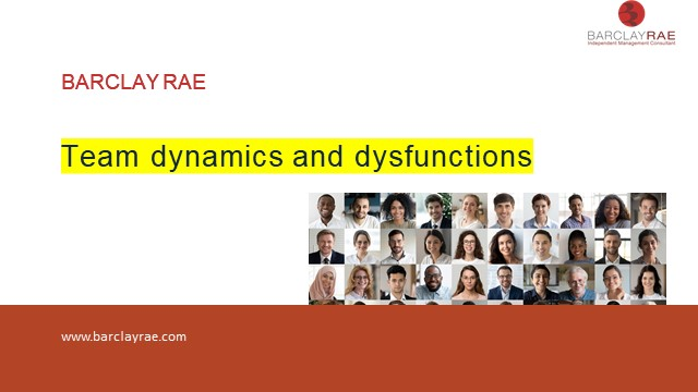 Team dynamics and dysfunctions