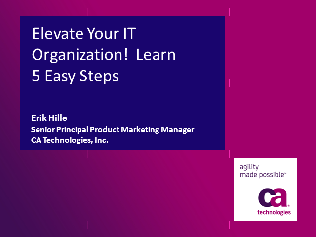 Elevate Your IT Organization! Learn 5 Easy Steps