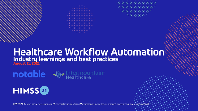 Healthcare workflow automation   Industry learnings and best practices
