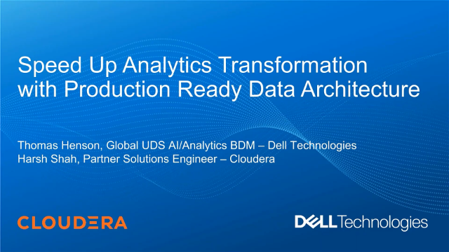 Speed Up Analytics Transformation with Production Ready Data Architecture
