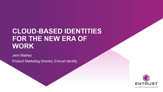 Cloud-based identities for the new era of work