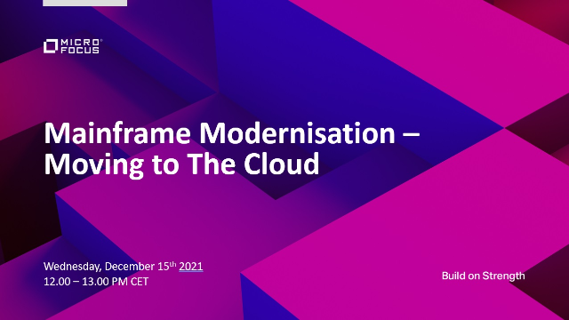 Mainframe Modernisation - Moving to The Cloud