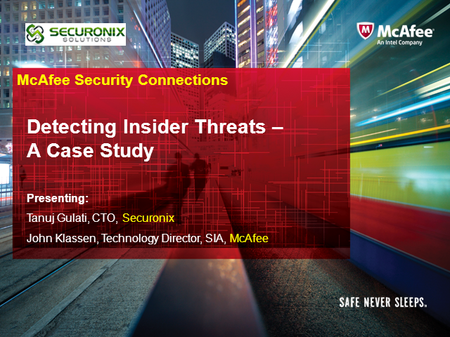 Detecting Insider Threats - A Case Study