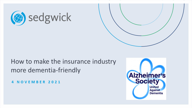 Making the insurance industry more dementia friendly