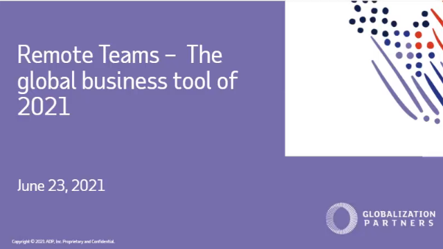 Globalization Partners - Remote Teams - The Global Business Tool