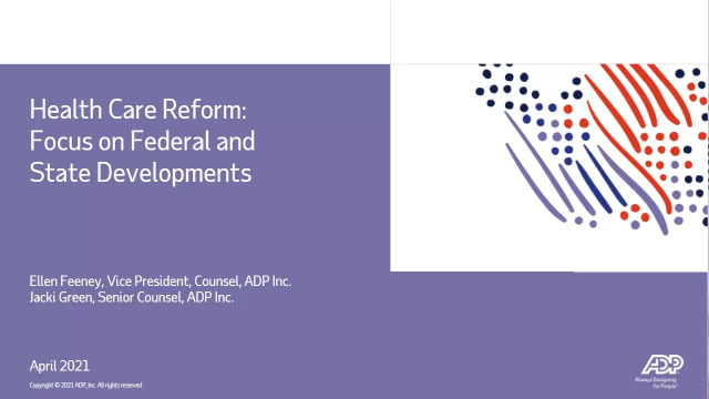 Focus on federal and state health care reforms