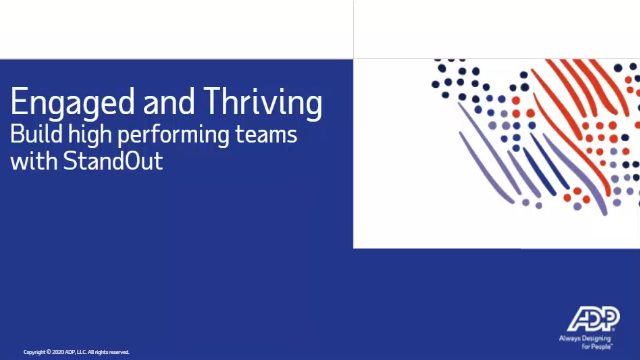 Build high performance teams with Standout powered by ADP®