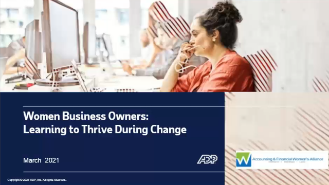 Women business owners learn to thrive during change