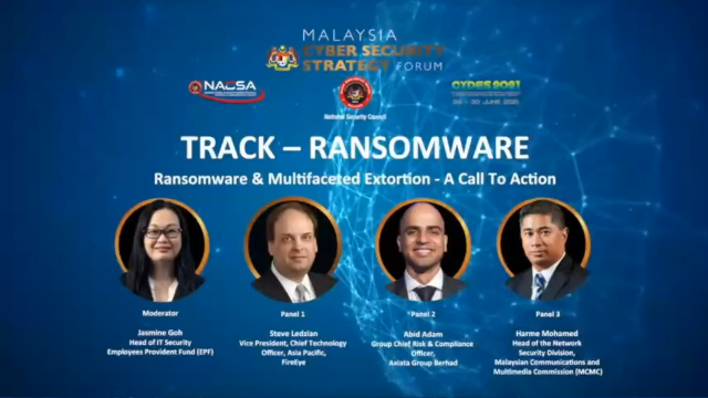 Malaysia Cyber Security & Strategy Forum: Ransomware