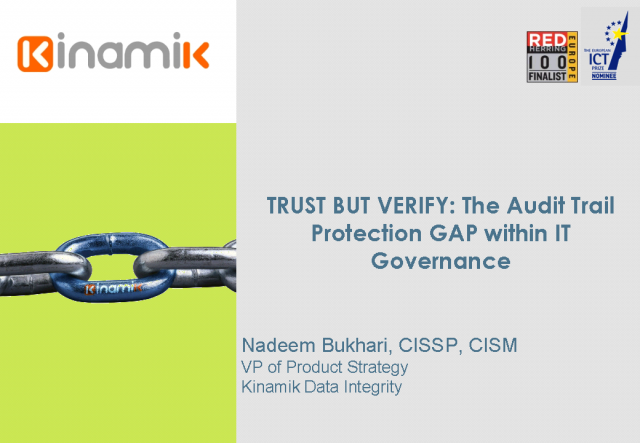 Trust, but verify: Audit trail protection gap in IT Governance
